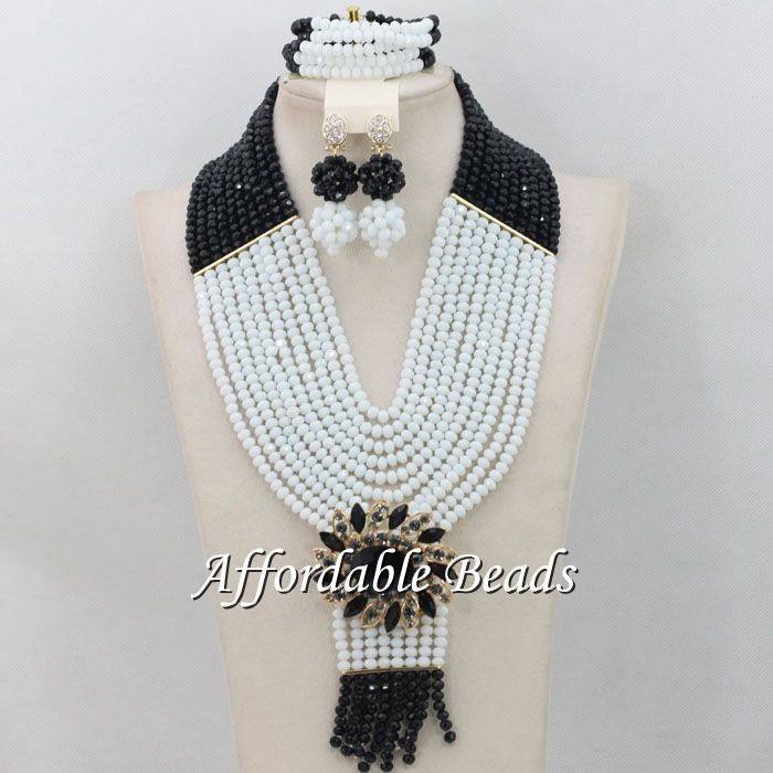 African Costume Jewelry Set Rare Wedding Beads Set Handmade Item Wholesale Free Shipping NCD033 luxury african dubai jewelry sets hot wedding beads set handmade item wholesale free shipping ncd022