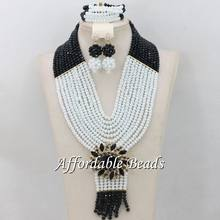 African Costume Jewelry Set Rare Wedding Beads Set Handmade Item Wholesale Free Shipping NCD033(China)
