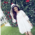 New Fashion!Pregnant Summer Lace Dress White Color Cute Style 1767#