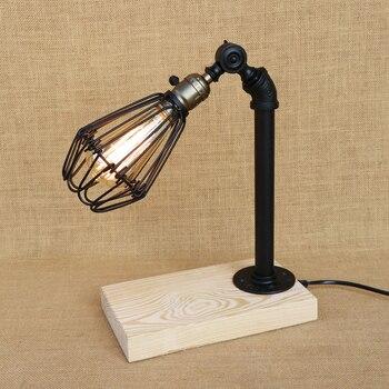 Moderna Scrivania Luce LED/Edison Luce Regolabile Ferro Paralume E27 Lampada Da Tavolo Per La Camera Da Letto Restaurant Cafe 220 V