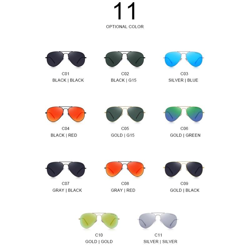 MERRYS DESIGN Men/Women Classic Pilot HD Polarized Sunglasses Aviation Frame Titanium Memory Alloy Temple UV400 Protection S8153
