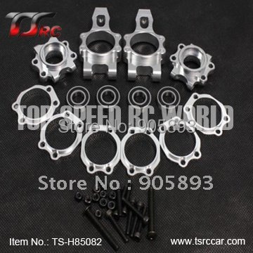 Free shipping!CNC Alloy Rear wheel axle hub (TS-85082) billet rear hub carriers for losi 5ive t