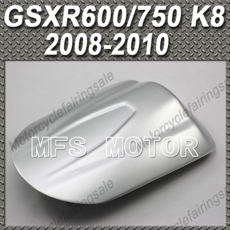 Motorcycle Rear Pillion All Silver Injection ABS Seat Cowl Cover For GSX R600/750 K8 For Suzuki GSX R600/750 K8 2008 2010 09