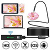 HD 1200P Wifi USB Borescope IP68 Waterproof Inspection Camera with Semi-rigid Flexible Cable for Smartphone Wireless Endoscope