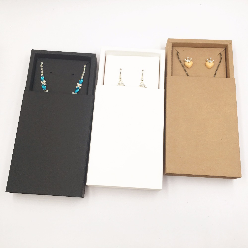 20sets  Kraft Paper Brown Drawer Jewelry Display Boxes,Gift Necklace/Earring Packing Box/Paper Carrying Cases