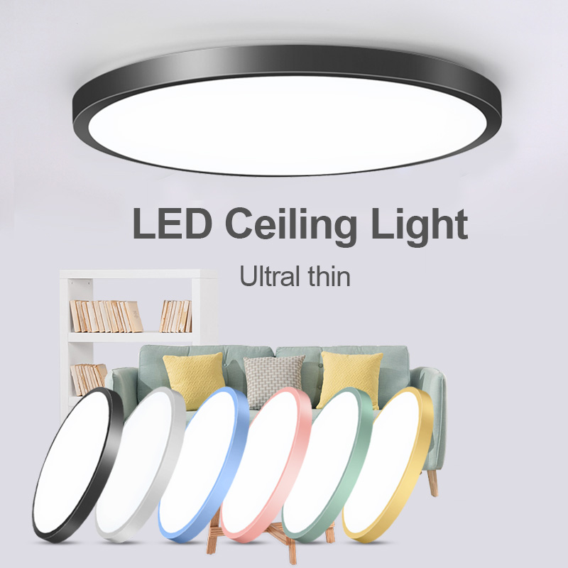 Led Ceiling Lamp Round 220V LED Light 15W 20W 30W 50W Kitchen Luminaria Room Lights Modern Fixture Surface Mounted Home Lighting