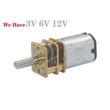 DC 3V/6V/12V N20 Mini Micro Metal Gear Motor with Gearwheel Motors 15/30/50/60/100/200/300/500/600/1000RPM