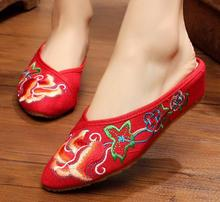 Pointed sandals slippers embroidered linen national wind new casual women's singles shoes 2016 shoes women national wind