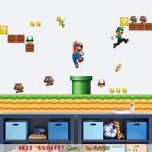 Game Cartoon Super Mario Wall Stickers For Kids Room Decoration Home Decals  Cartoon Wall Decal Mural Art Playroom Paper Sticker Part 89