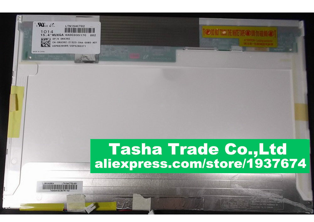 LTN154CT02 For DELL Precision M4400 Latitude E6500 Screen LCD Matrix LED Display WUXGA 15.4 1920*1080 FHD Matte image
