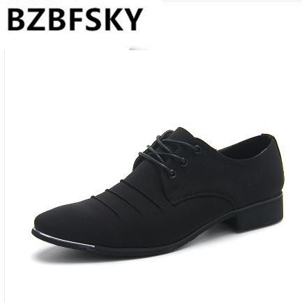 Sapatos Apontado Plissada on Marca Casuais Homens Primavera Outono Nova Black Chaussure Apartamentos Dedo Bzbfsky2018 De drakblue Slip Couro Vestido qn74XzwqxZ