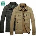 Afs JEEP Nian tamanho M para 4XL outono dos homens jaqueta de algodão, De bolso cor sólida geral casaco cardigan, Motocicleta casacos