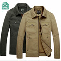 Nian AFS JEEP Size M to 4XL Autumn Men's Cargo Cotton Jacket,Front Pocket Solid Color Overall Cardigan Jacket,Motorcycle Jackets