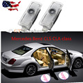 2x LED Door Warning Light With Mercedes-Benz Logo Projector FOR for Mercedes Benz CLS CLA class