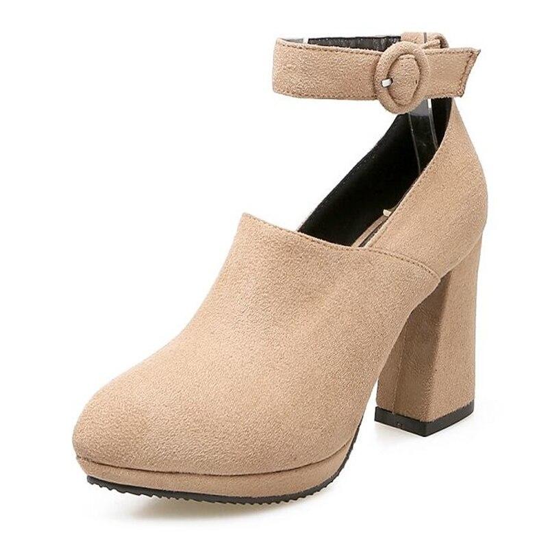 Printemps À Et Chaussures Talons Noir Taille 4 Hauts 2 Plus Automne 1 La Seule 43 Chaussure 3 Nouveau 35 Ponçage Femmes rprwfqz
