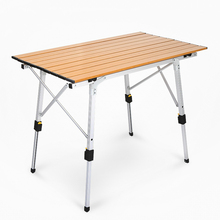 Metal aluminum suit portable folding picnic table aluminum alloy lifting household table