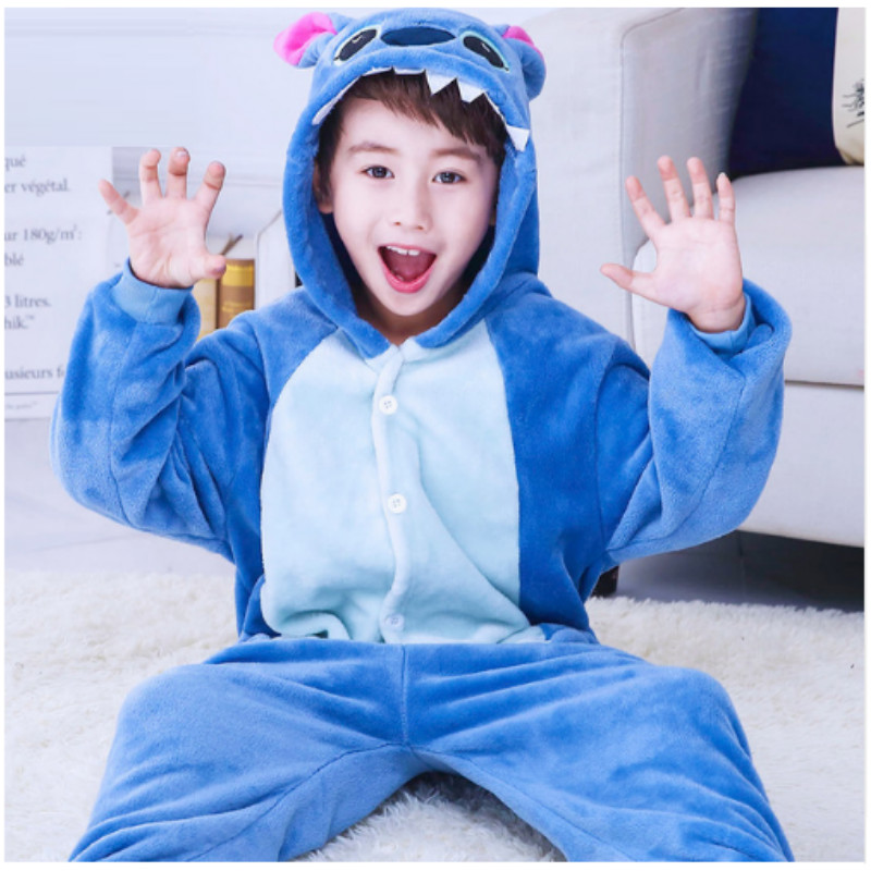 New Batman Cartoon Pajamas Child Conjoined Fleece Homwear Baby Cute Home Furnishing Sleepwear Fleece Flannel Suit B-5969