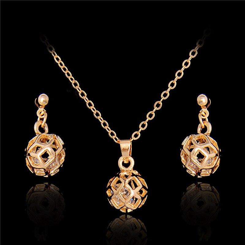 Atreus Gold Color Hollow Pattern Ball Shape Women Modern Jewelry ...