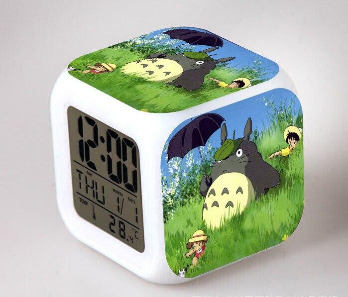 Lieblich Tonari No Totoro LED 7 Farbe Flash Digital Wecker Kinder Nachtlicht Schlafzimmer  Uhr Reloj Despertador