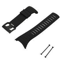 Smartwatch Band Outdoor Waterproof Rubber Watch Band Men's Watch-strap Steel Buckle with Screwdriver for Suunto core