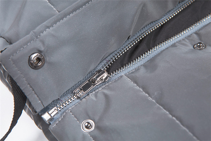 Dulzura flash reflective women padded jacket short tops warm 18 autumn winter solid zipper oversize loose outwear coats casual 26