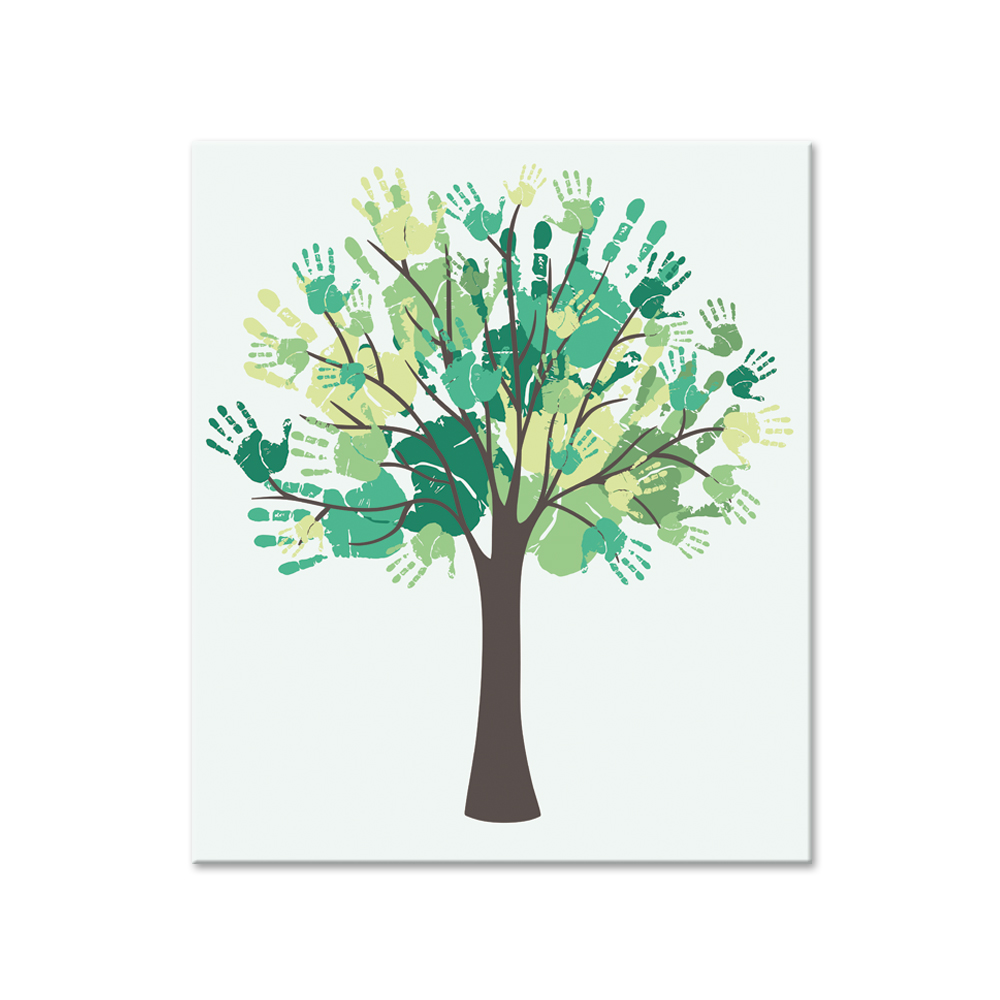 1 Panel Modern Printed Finger Print Tree Painting Picture