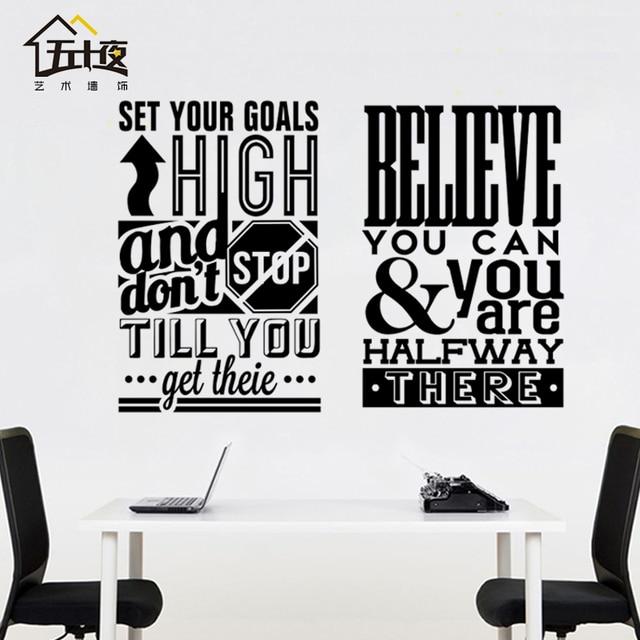 Buro Brief Wandtattoo Zitat Glauben Sie Konnen Motivation Inspiriert
