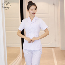 Медицинская одежда, белые топы с длинным/коротким рукавом, медицинское пальто, стоматологическая лаборатория, униформа доктора, Женская аптека, рабочая одежда, медицинские скрабы