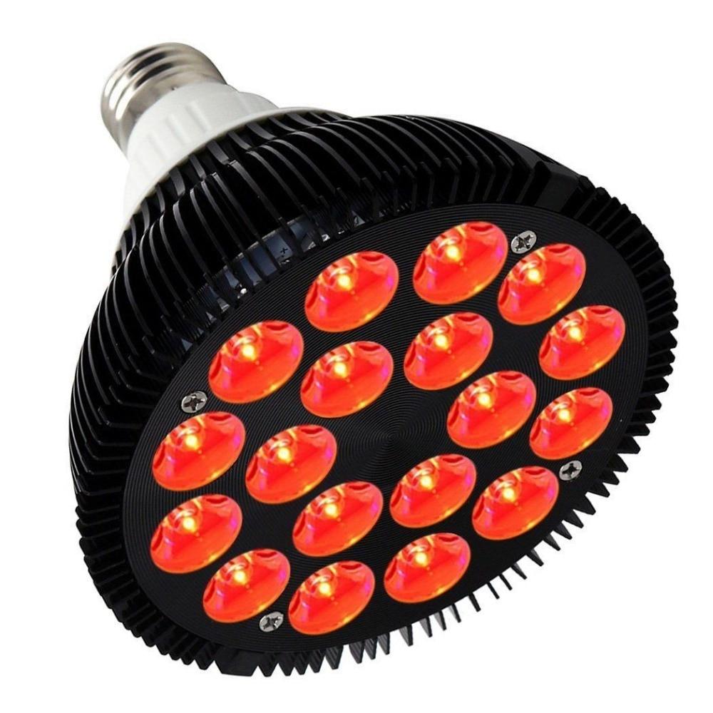 Spider Cob 36 Watt All Deep Red 660nm LED Grow Light Bulb Lamp PAR38 Grow Spectrum Enhancement for Indoor Veg Bloom Plant Growth
