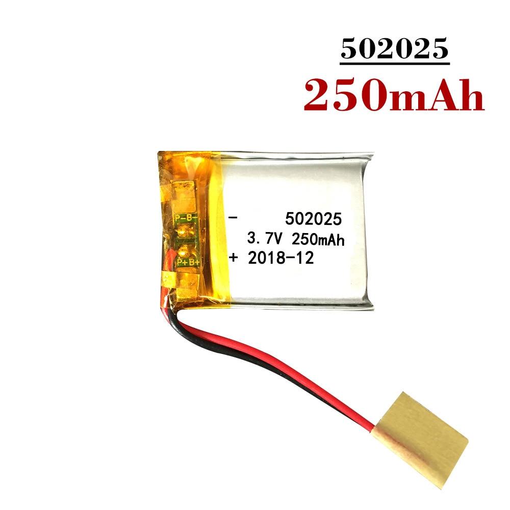 Новинка 2019 3,7 V 250mAh литиевая батарея 502025 перезаряжаемая литий-полимерная батарея с печатной платой для Psp MP3 GPS MID POS гарнитура