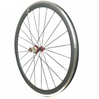 Carbon Clincher Wheels With Alloy Brake Edge Width 23MM Depth 60MM Carbon Road Bicycle Wheels