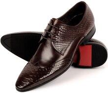 Мода черный/Коричневый загар острым носом серпантин мужские ботинки платья свадебная обувь из натуральной кожи бизнес обувь мужские офисные туфли