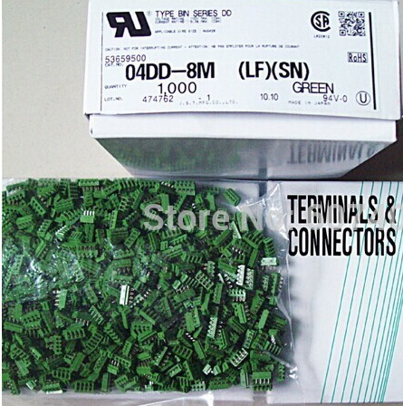 04DD-8M Header green color Connectors terminals housings 100% new and Original parts 04DD-8M(LF)(SN)