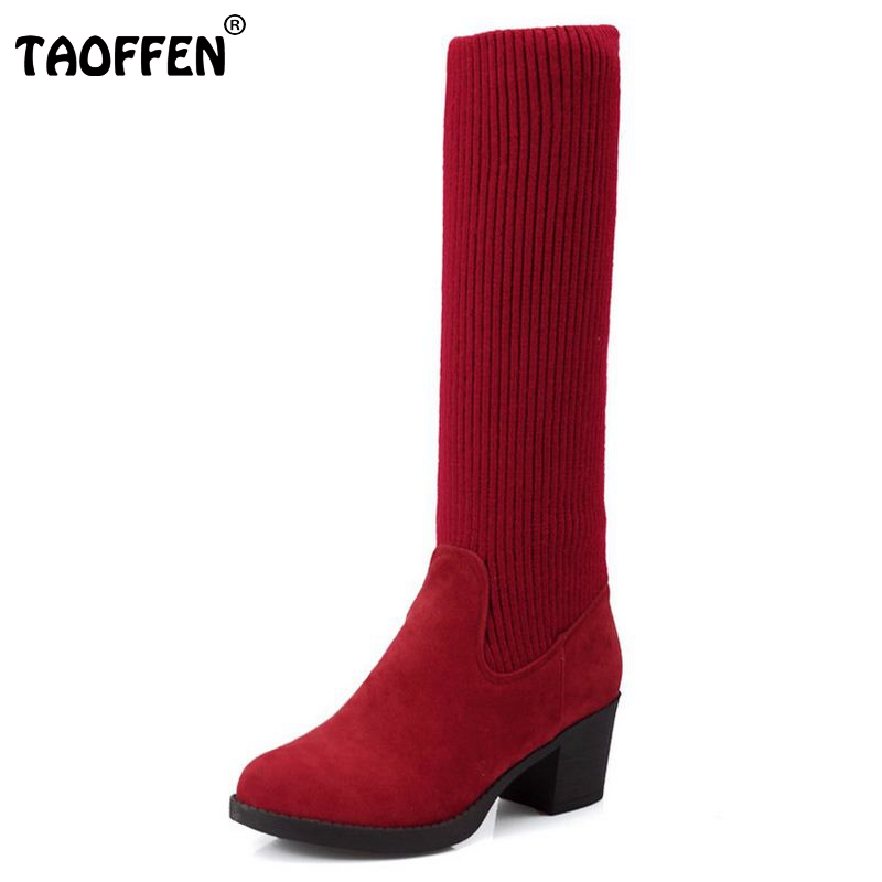 Size 34-43 Women High Heel Over Knee Boot Winter Botas Masculina Warm Long Boots Riding Fashion Quality Footwear Shoes