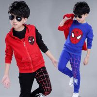 Spiderman Costume Red Black Spider Man Anime Cosplay Children Clothes 3pcs Set Halloween Costume For Boys