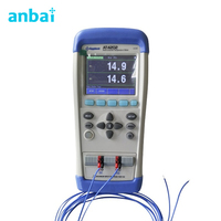 Handheld Multi channel Thermometer Thermocouple Temperature Meter AT4202