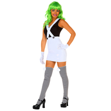Limited Seductive Candy Creator Sexy Oompa Loompa Movie Charactor Fancy Dress Wig and Leggings Include