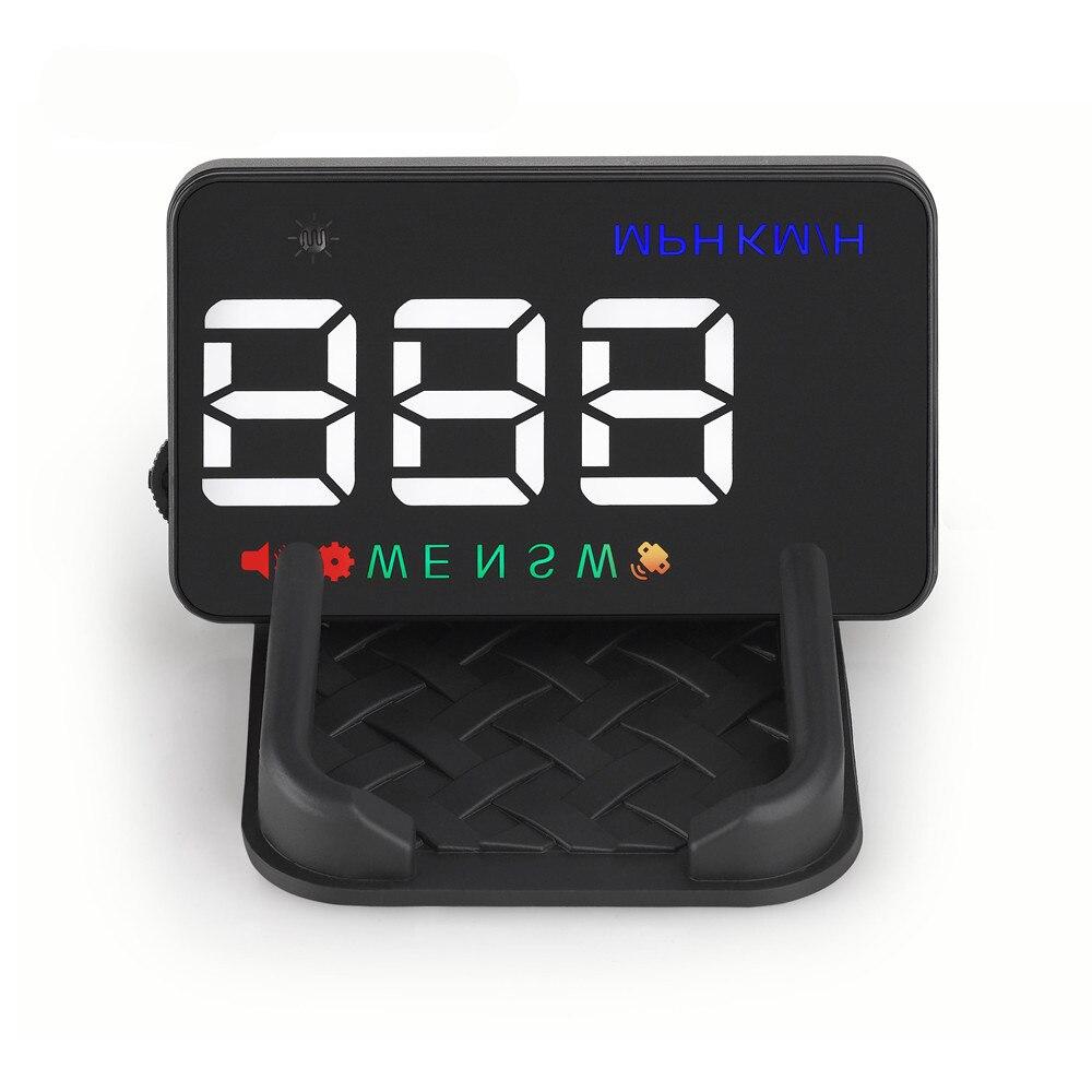 все цены на RMLKS A5 Universal Car HUD GPS Speedometer Speedo Head Up Display Digital Over Speed Alert Windshield Projetor Auto Navigation онлайн