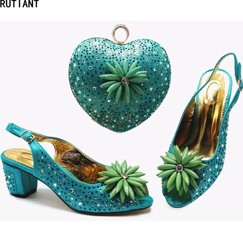 Et Ensemble Mis Sacs Correspondre Blue Chaussures Avec Strass De red En Mode Pour Nouvelle yellow green Dark Nigérian À Sac Designers Italie peach Luxe Femmes qaCxTn8w