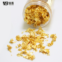 1g 24k thick gold leaf flake made of edible gold leaf sheets, suits food decoration like cake, ice cream,chocolate free shipping