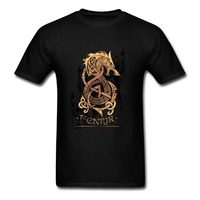 Pp T Shirt Vikings Mens T Shirts Fashion 2017 Resilient Cotton 3XL Short Sleeve The Monster