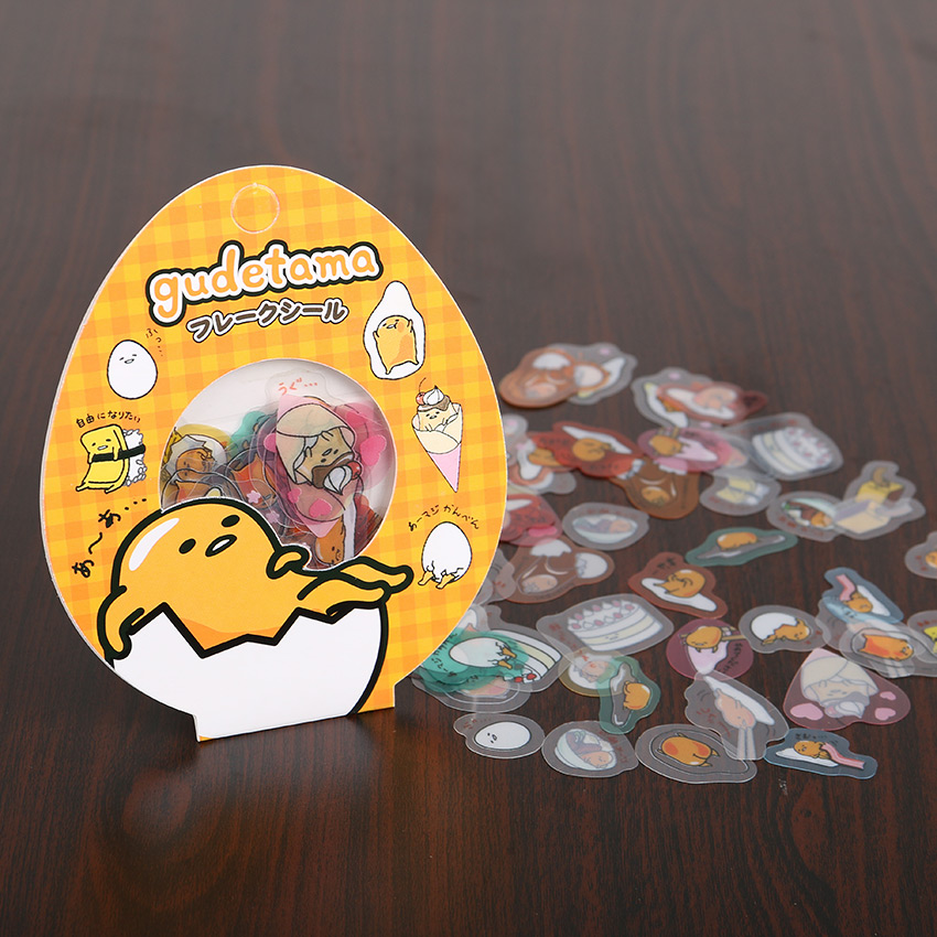 180PCS/3 Packs Egg Yolk Brother Transparent PVC Decorative Stickers Japan Lazy Egg Sticker Cartoon Stickers auto accessories chameleon sticker 30m 1 52m functional car pvc red copper color stickers home decorative films stickers
