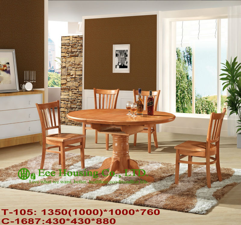 T-105,C-1687Classical Wooden Table Dinning Furniture,Solid Dining Chair,Solid Wood Dinning Table Furniture /Home Furniture