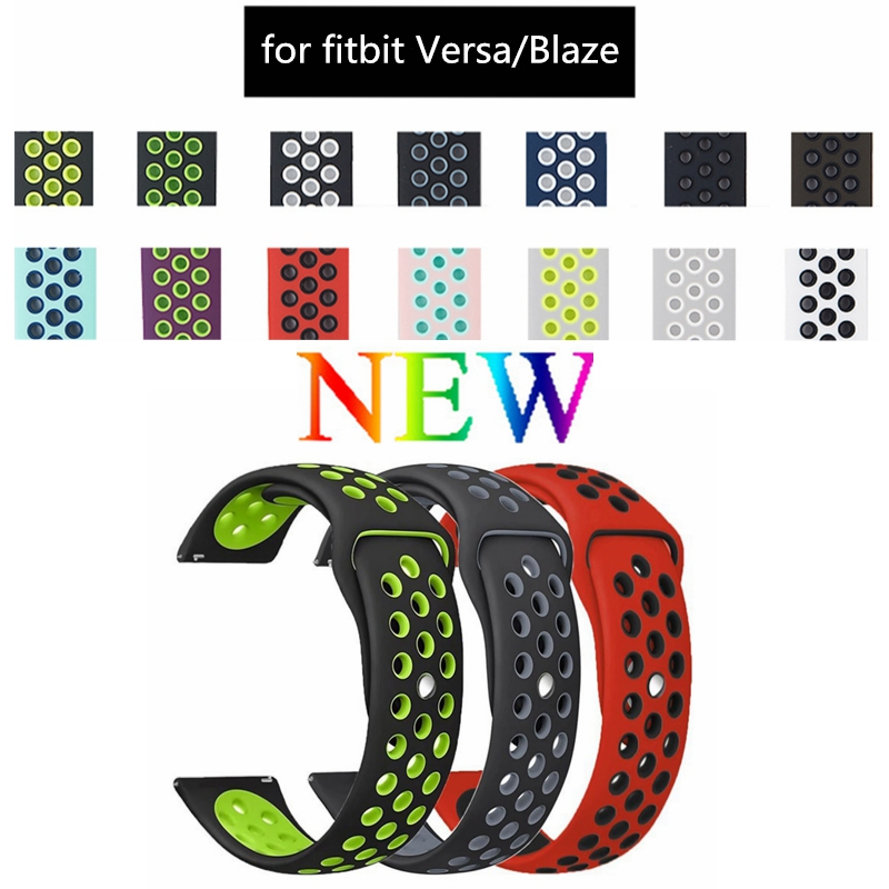 Soft Silicone Replacement Sport Strap Band for Fitbit Versa /Fitbit Blaze /Fitbit Blaze Smart Watch Band (NO Metal Frame)