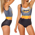 Personalized sky digital print Batman cloak sexy sw-im  suit female body pants