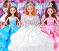 1 wedding dress doll princess fashion clothing gown beautiful doll accessories best gift for girl toy clothes brinquedos menina