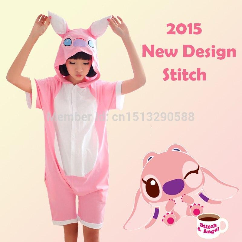 69c4c1341c Rosa puntada animal onesies ropa de dormir verano anime Cosplay ropa adulto  unisex Cosplay traje pijamas mono envío gratis