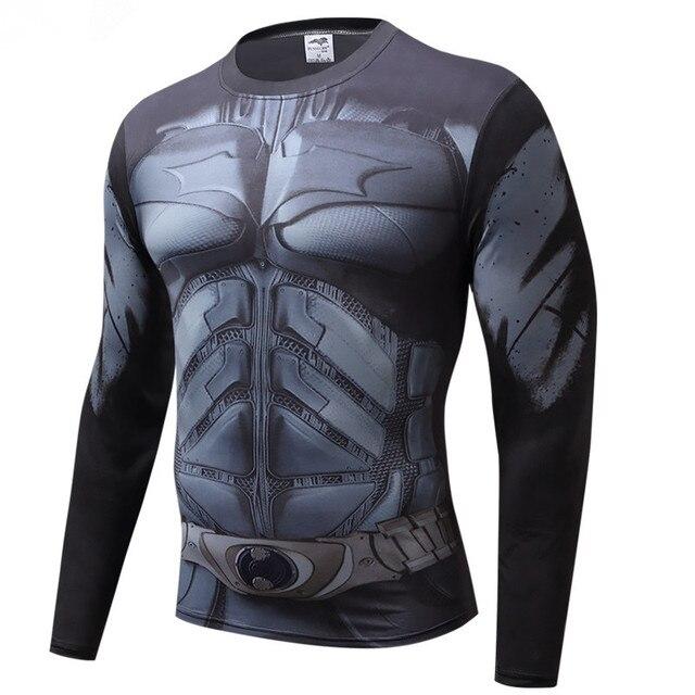 Для мужчин с длинным рукавом рубашки сжатия 3D аниме супергерой Супермен Капитан Америка футболка Колготки для новорождённых Фитнес Для мужчин Топы и футболки для женщин