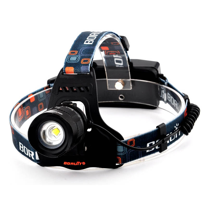 2000LM XML T6 LED Headlamp 5-Mode Zoom Headlight Rechargeable Head Lamp Torch Flashlight Camping Hunting Frontal Lantern