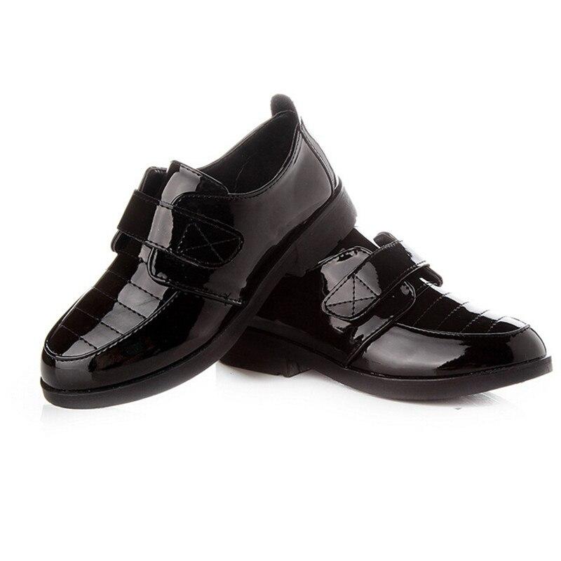 2016 Spring Autumn Boys Flat Shoes Leather Shoes Children Single Black Child Patent Leather Shoes Sale